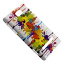 Crazy Multicolored Double Running Splashes HTC 8S Hardshell Case View5