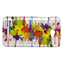Crazy Multicolored Double Running Splashes HTC Butterfly X920E Hardshell Case View1