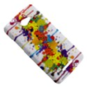 Crazy Multicolored Double Running Splashes HTC Butterfly X920E Hardshell Case View5