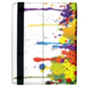 Crazy Multicolored Double Running Splashes Samsung Galaxy Tab 10.1  P7500 Flip Case View2