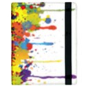Crazy Multicolored Double Running Splashes Samsung Galaxy Tab 10.1  P7500 Flip Case View3