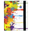 Crazy Multicolored Double Running Splashes Samsung Galaxy Tab 8.9  P7300 Flip Case View2