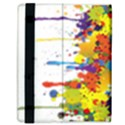 Crazy Multicolored Double Running Splashes Samsung Galaxy Tab 8.9  P7300 Flip Case View3
