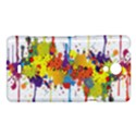 Crazy Multicolored Double Running Splashes Sony Xperia T View1