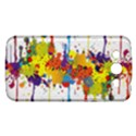 Crazy Multicolored Double Running Splashes Samsung Galaxy Mega 5.8 I9152 Hardshell Case  View1