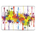 Crazy Multicolored Double Running Splashes iPad Air Hardshell Cases View1