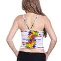 Crazy Multicolored Double Running Splashes Spaghetti Strap Bra Top View2