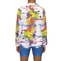 Crazy Multicolored Double Running Splashes Kids  Long Sleeve Swimwear View2