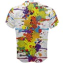 Crazy Multicolored Double Running Splashes Men s Cotton Tee View2