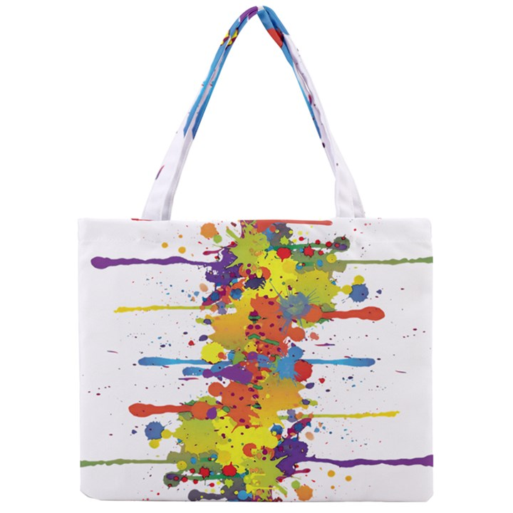 Crazy Multicolored Double Running Splashes Mini Tote Bag