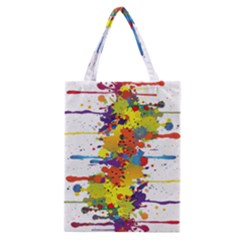 Crazy Multicolored Double Running Splashes Classic Tote Bag