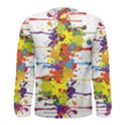 Crazy Multicolored Double Running Splashes Men s Long Sleeve Tee View2