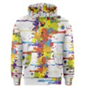 Crazy Multicolored Double Running Splashes Men s Pullover Hoodie View1