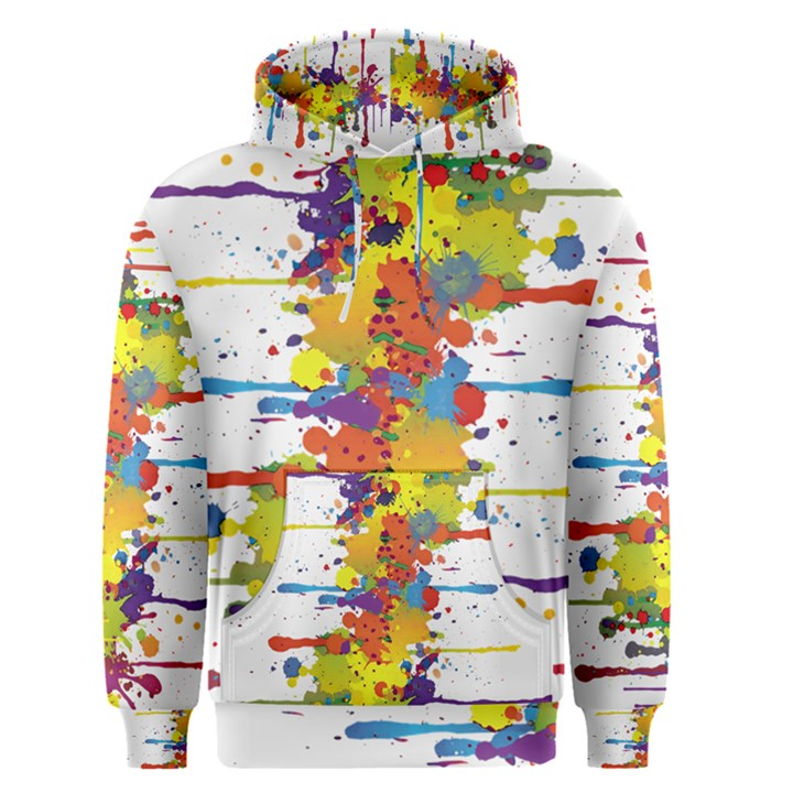 Crazy Multicolored Double Running Splashes Men s Pullover Hoodie
