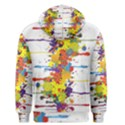 Crazy Multicolored Double Running Splashes Men s Pullover Hoodie View2