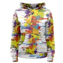 Crazy Multicolored Double Running Splashes Women s Pullover Hoodie View1