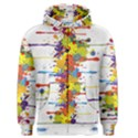 Crazy Multicolored Double Running Splashes Men s Zipper Hoodie View1