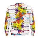 Crazy Multicolored Double Running Splashes Men s Sweatshirt View2