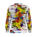 Crazy Multicolored Double Running Splashes Women s Sweatshirt View2
