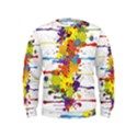 Crazy Multicolored Double Running Splashes Kids  Sweatshirt View1