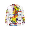 Crazy Multicolored Double Running Splashes Kids  Sweatshirt View2