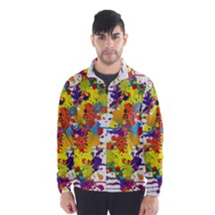 Crazy Multicolored Double Running Splashes Wind Breaker (men)