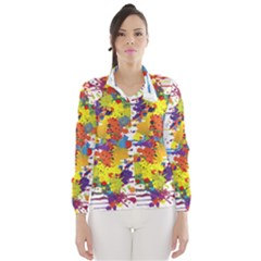 Crazy Multicolored Double Running Splashes Wind Breaker (women)