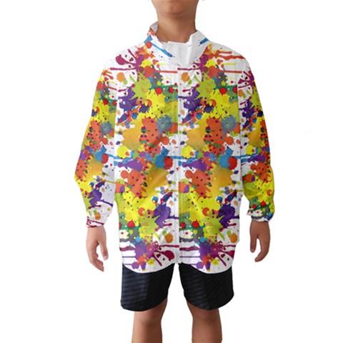 Crazy Multicolored Double Running Splashes Wind Breaker (Kids)