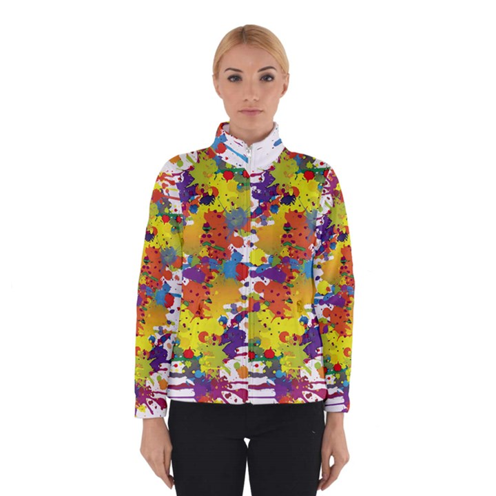 Crazy Multicolored Double Running Splashes Winterwear