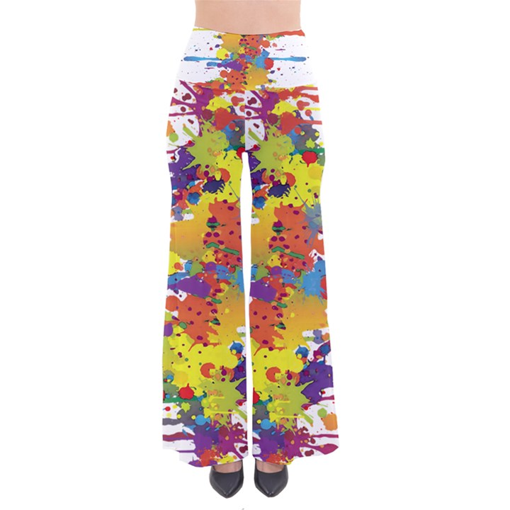 Crazy Multicolored Double Running Splashes Pants