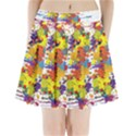 Crazy Multicolored Double Running Splashes Pleated Mini Skirt View1