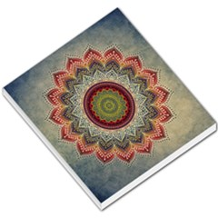 Folk Art Lotus Mandala Dirty Blue Red Small Memo Pads