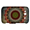 Folk Art Lotus Mandala Dirty Blue Red HTC Wildfire S A510e Hardshell Case View1