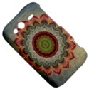 Folk Art Lotus Mandala Dirty Blue Red HTC Wildfire S A510e Hardshell Case View5