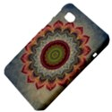 Folk Art Lotus Mandala Dirty Blue Red Samsung Galaxy Tab 7  P1000 Hardshell Case  View4