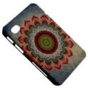 Folk Art Lotus Mandala Dirty Blue Red Samsung Galaxy Tab 7  P1000 Hardshell Case  View5