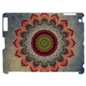 Folk Art Lotus Mandala Dirty Blue Red Apple iPad 2 Hardshell Case (Compatible with Smart Cover) View1