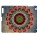 Folk Art Lotus Mandala Dirty Blue Red Apple iPad 3/4 Hardshell Case View1