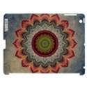 Folk Art Lotus Mandala Dirty Blue Red Apple iPad 3/4 Hardshell Case (Compatible with Smart Cover) View1