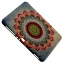 Folk Art Lotus Mandala Dirty Blue Red Samsung Galaxy Tab 8.9  P7300 Hardshell Case  View5