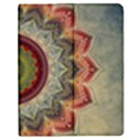 Folk Art Lotus Mandala Dirty Blue Red Apple iPad 3/4 Flip Case View1