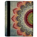 Folk Art Lotus Mandala Dirty Blue Red Apple iPad 3/4 Flip Case View3