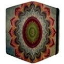 Folk Art Lotus Mandala Dirty Blue Red Apple iPad 3/4 Flip Case View4
