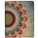 Folk Art Lotus Mandala Dirty Blue Red Apple iPad Mini Flip Case View1