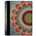 Folk Art Lotus Mandala Dirty Blue Red Apple iPad Mini Flip Case View3