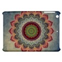 Folk Art Lotus Mandala Dirty Blue Red Apple iPad Mini Hardshell Case View1