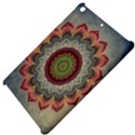 Folk Art Lotus Mandala Dirty Blue Red Apple iPad Mini Hardshell Case View4