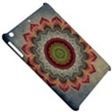 Folk Art Lotus Mandala Dirty Blue Red Apple iPad Mini Hardshell Case View5