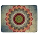 Folk Art Lotus Mandala Dirty Blue Red Samsung Galaxy Tab 7  P1000 Flip Case View1