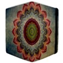 Folk Art Lotus Mandala Dirty Blue Red Samsung Galaxy Tab 10.1  P7500 Flip Case View4